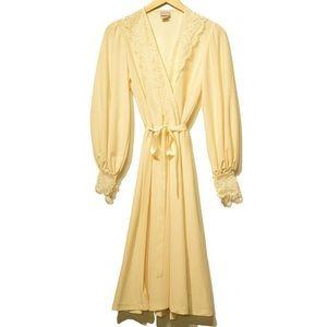 70s Vtg Lady Lay Lace Dress